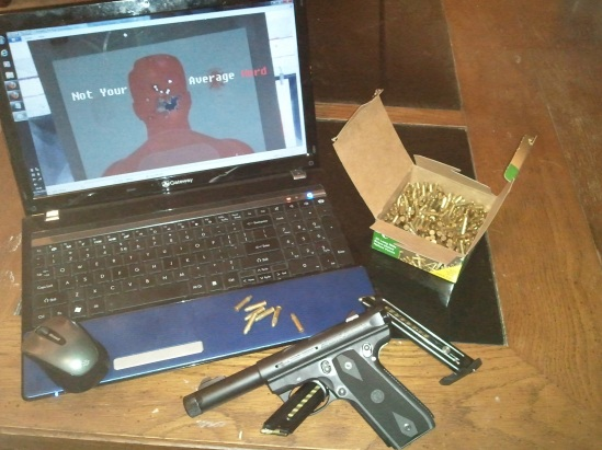 Truth be told, I'm better with the gun than the laptop.